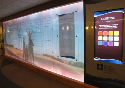Digital Donor Recognition with Backlit colorful Donor Wall