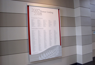 Art Museum Updates Annual Donor Recognition Wall