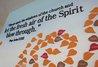 Church Donor Recognition Leaf Wall by Presentations, Inc in Cedar Rapids, IA
