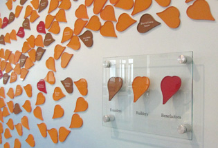 Church Donor Leaf Wall by Presentations, Inc in Cedar Rapids, IA