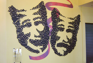Pointillism Treatment Adds an Artistic Feel to the Theatre's Donor Wall