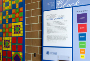 Blue Ribbon Foundation's Block By Block Donor Wall Showcases Iowa Landmark