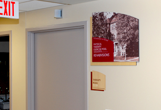 Wayfinding Signage and Donor Plaques at Vinton, IA Hospital - Presentations Inc