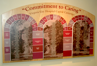 Custom Donor Wall at Vinton, IA Hospital - Presentations Inc