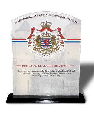 Donor Plaque Recognizes Yearly Membership To Red Lion Society