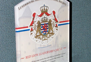 Custom Graphic Plaque Recognizes Yearly Membership To Red Lion Society