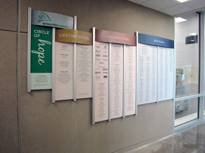 Donor Recognition Wall for Annual Donors