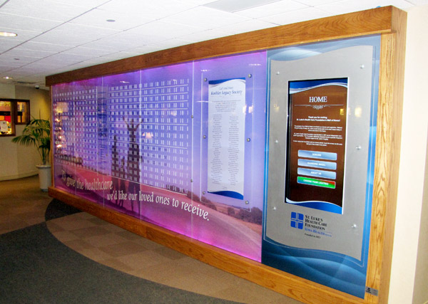 Hospital's New Digital Donor Display Lights the Way
