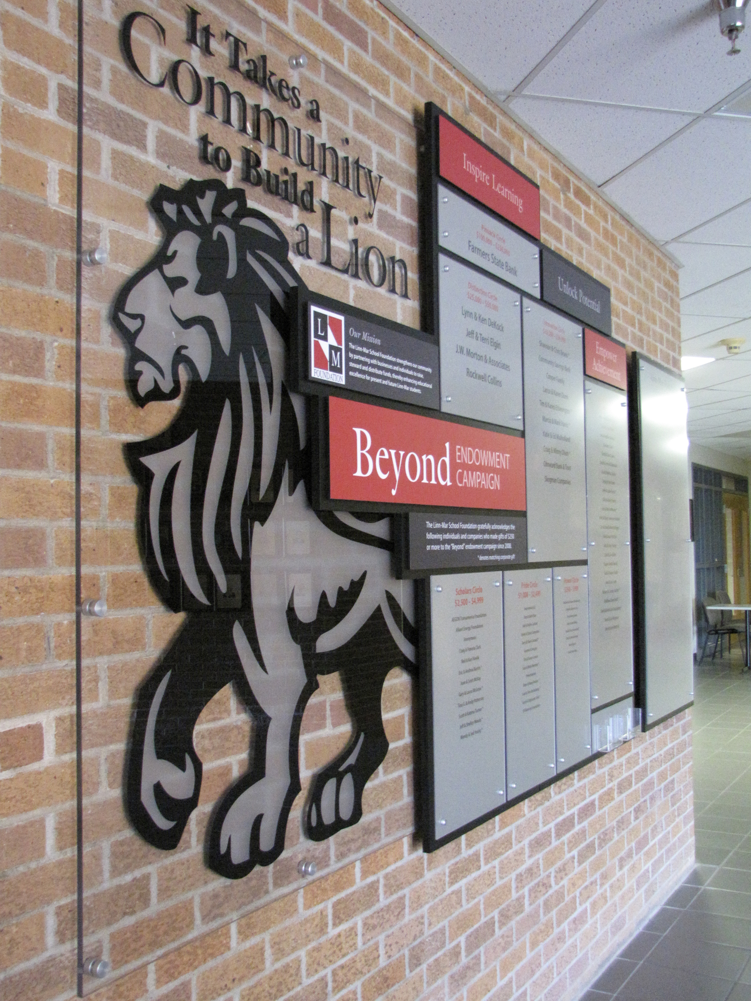 School Foundation Donor Wall Creates Community Pride