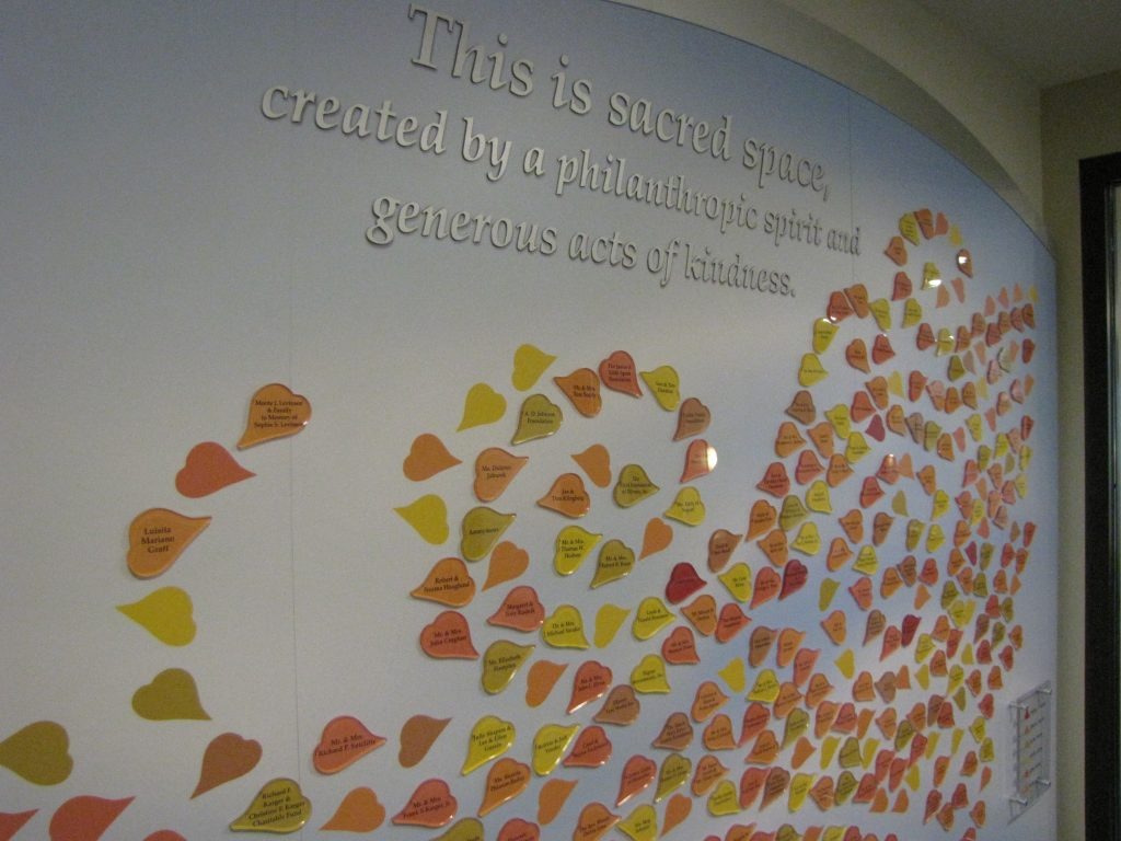 Unique Donor Wall for Hospice CareCenter - Presentations, Inc.