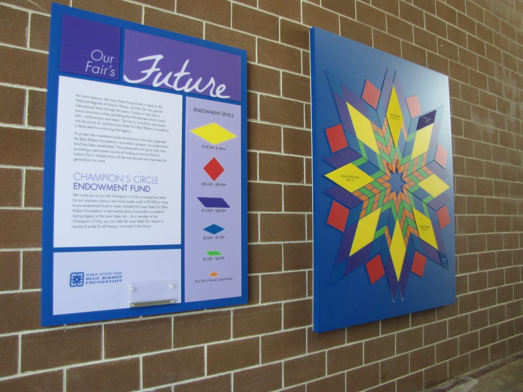 Donor Recognition Display at Iowa State Fairgrounds - Presentations, Inc