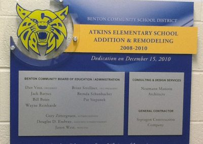 donor walls_benton community school district_atkins dedication plaque