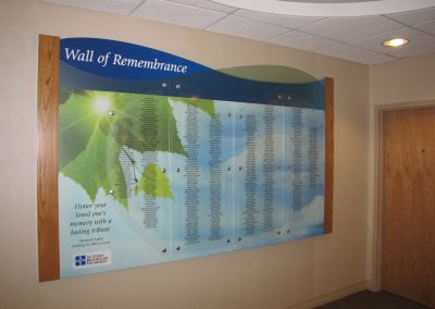 Hospital Memorial Donor Wall Remembers Lost Loved Ones