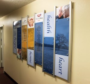 Donor Recognition Wall for SeniorServ - Anaheim, CA