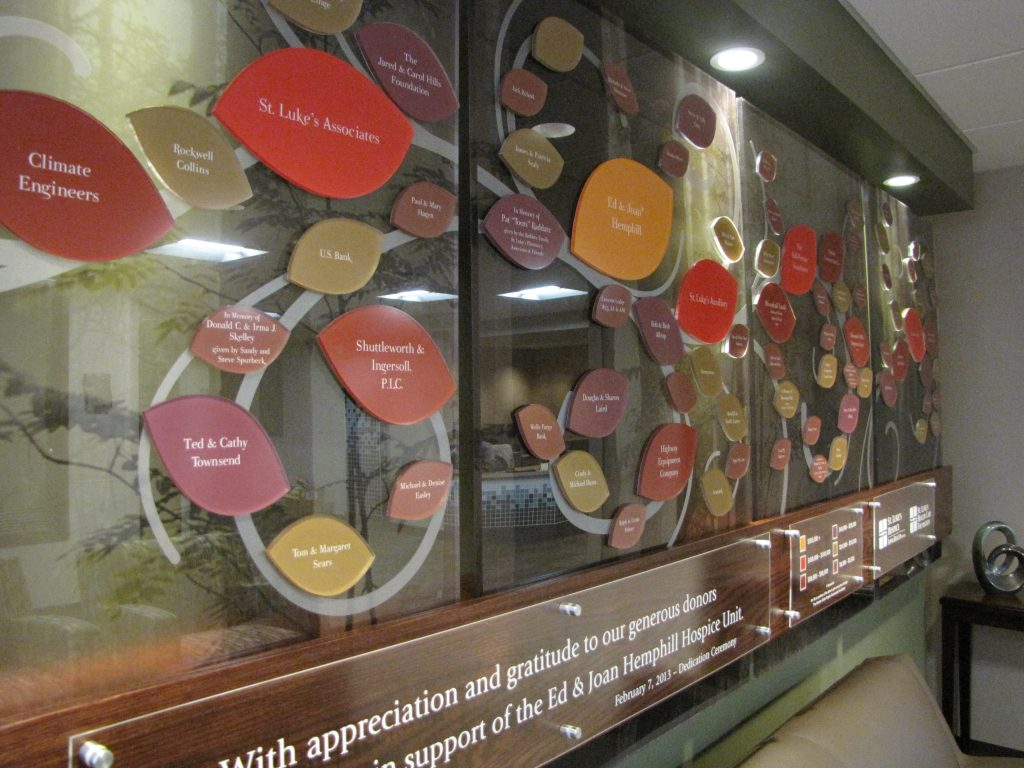 Donor Wall Tree for Hospice