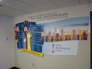 Custom Donor Wall with Branding Logo - Presentations, Inc. of Cedar Rapids, IA