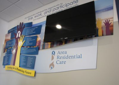 Healthcare Donor Wall with Branding Logo -