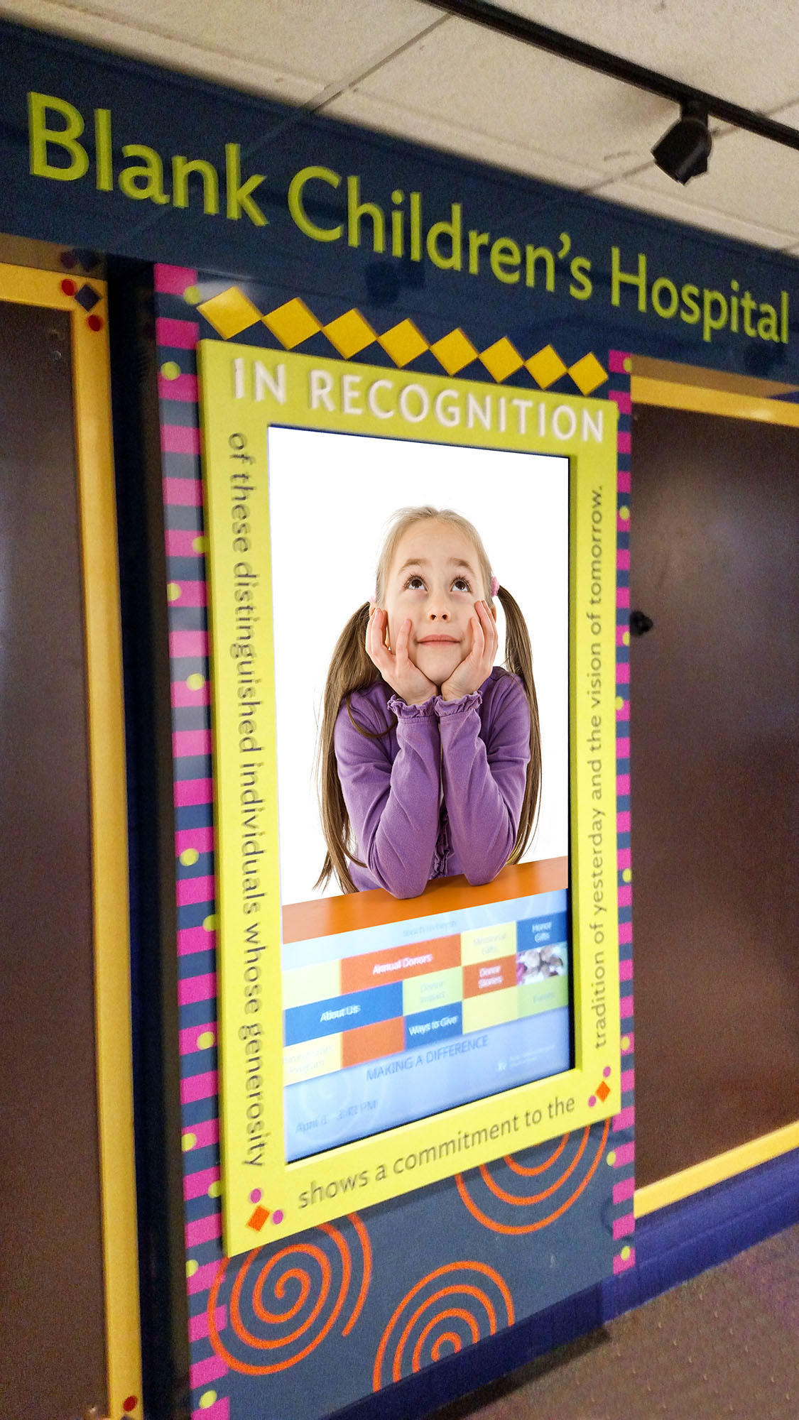 Digital Donor Recognition Wall for Hospital - Des Moines, IA