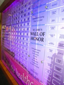 Hospital Adds Custom Donor Wall with Digital Display - Cedar Rapids, IA - Presentations, Inc
